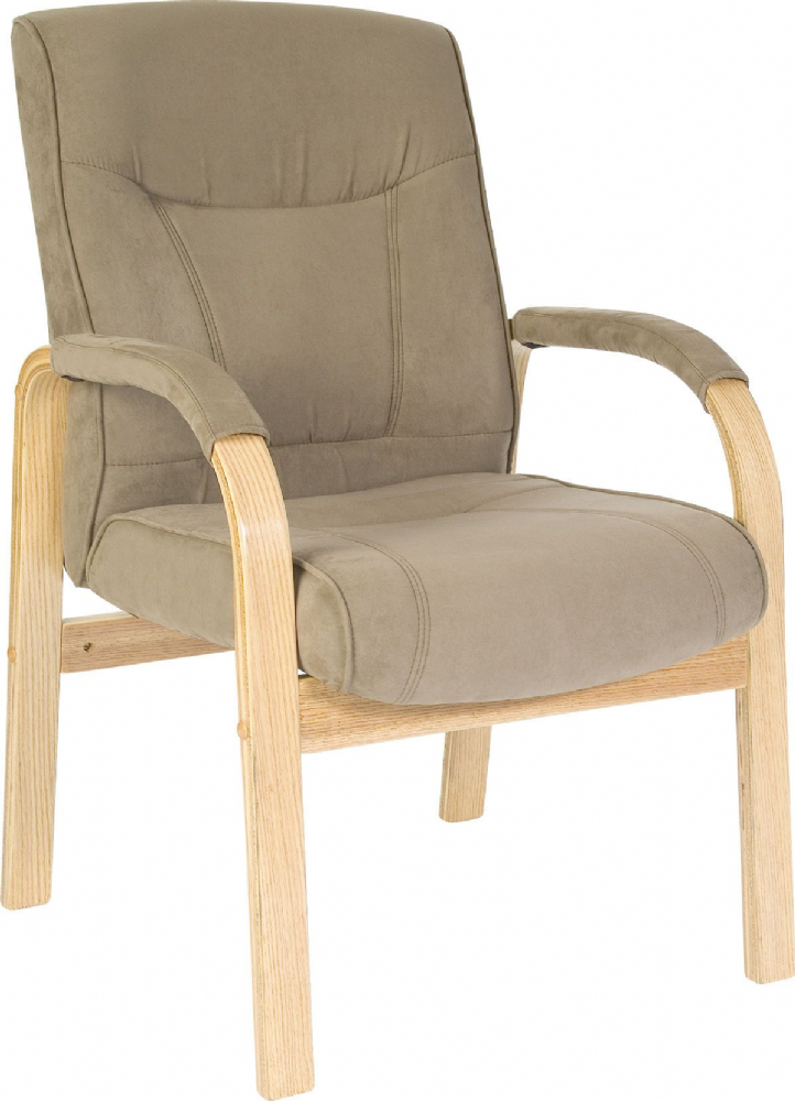 Suede Effect Chair in Cappuccino